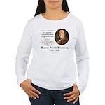 Ben Franklin on Blockheads Women's Long Sleeve T-S