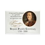 Ben Franklin on Blockheads Rectangle Magnet (100 p