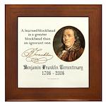 Ben Franklin on Blockheads Framed Tile