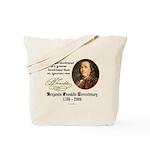 Ben Franklin on Blockheads Tote Bag