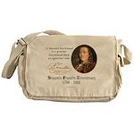 Ben Franklin on Blockheads Messenger Bag