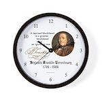 Ben Franklin on Blockheads Wall Clock