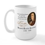 Ben Franklin on Blockheads Large Mug