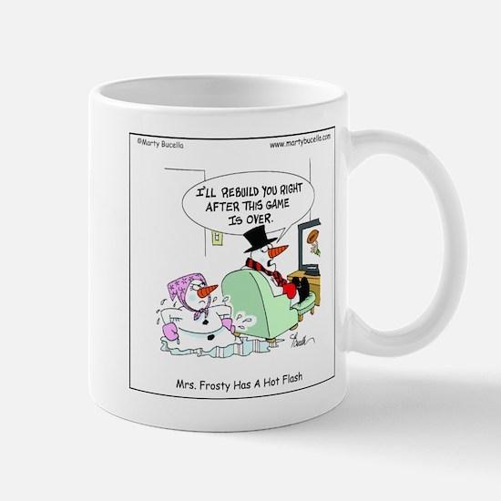Mrs. Frosty has a hot flash Mug