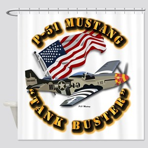 Aircraft - P51 Mustang Shower Curtain