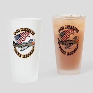 Aircraft - P51 Mustang Drinking Glass