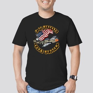 Aircraft - P51 Mustang Men's Fitted T-Shirt (dark)