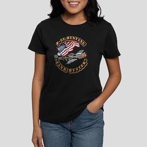 Aircraft - P51 Mustang Women's Dark T-Shirt