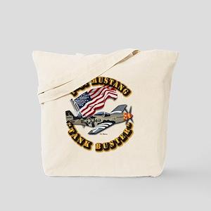 Aircraft - P51 Mustang Tote Bag