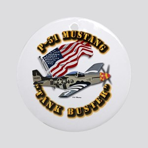 Aircraft - P51 Mustang Ornament (Round)