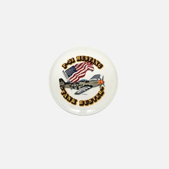 Aircraft - P51 Mustang Mini Button