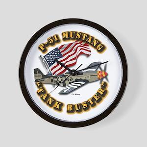 Aircraft - P51 Mustang Wall Clock