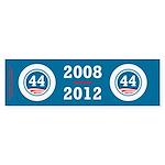 44 Squared Obama Sticker (Bumper)
