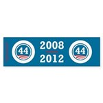 44 Squared Obama Sticker (Bumper 10 pk)