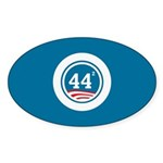 44 Squared Obama Sticker (Oval 10 pk)
