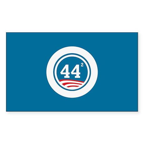 44 Squared Obama Sticker (Rectangle)
