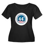 44 Squared Obama Women's Plus Size Scoop Neck Dark