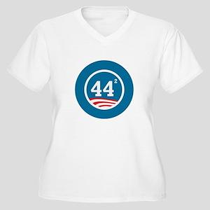 44 Squared Obama Women's Plus Size V-Neck T-Shirt