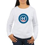 44 Squared Obama Women's Long Sleeve T-Shirt