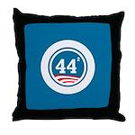 44 Squared Obama Throw Pillow
