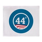 44 Squared Obama Throw Blanket