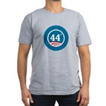 44 Squared Obama Men's Fitted T-Shirt (dark)