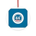44 Squared Obama Ornament (Round)