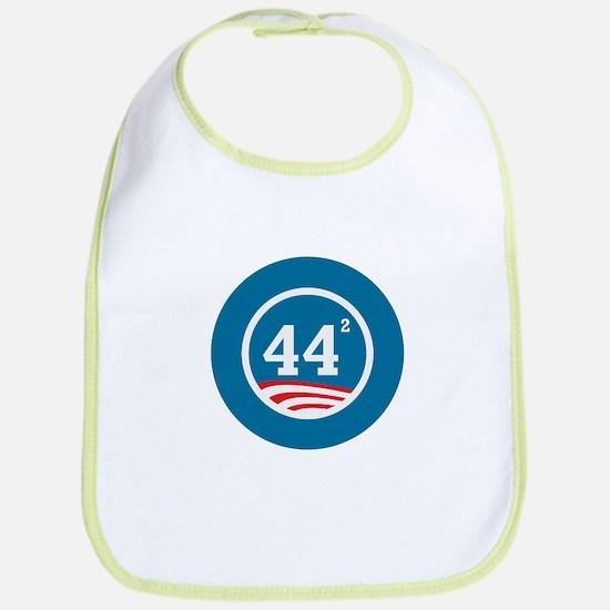 44 Squared Obama Bib