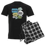 Text Shortcuts Men's Dark Pajamas