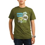 Text Shortcuts Organic Men's T-Shirt (dark)