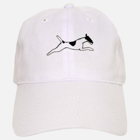 Leaping Smooth Fox Terrier Baseball Baseball Cap