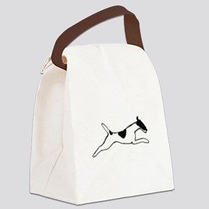 Leaping Smooth Fox Terrier Canvas Lunch Bag