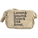 Lorem Ipsum Dolor Messenger Bag