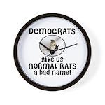 RATS anti-Democrat Wall Clock