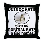 RATS anti-Democrat Throw Pillow