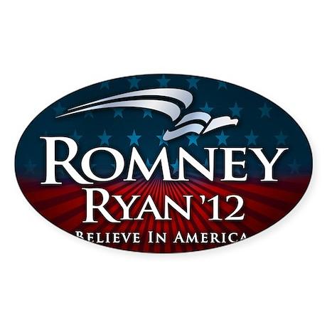 Romney Ryan Believe in America Sticker