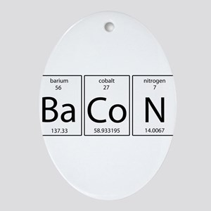 Bacon periodic Ornament (Oval)
