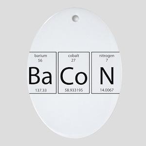 Bacon periodic Ornament (Oval)