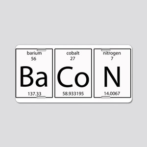 Bacon periodic Aluminum License Plate