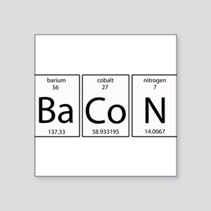"Bacon periodic Square Sticker 3"" x 3"""