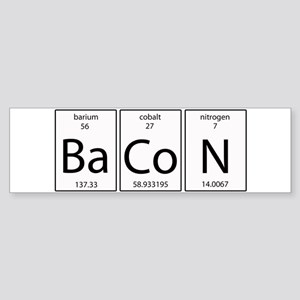 Bacon periodic Sticker (Bumper)