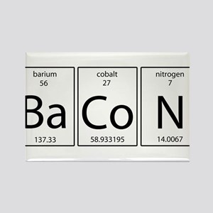 Periodic table bacon gifts cafepress bacon periodic rectangle magnet urtaz Images