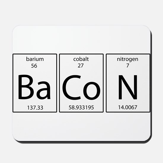 Bacon periodic Mousepad