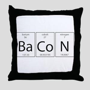Bacon periodic Throw Pillow