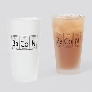 Bacon periodic Drinking Glass