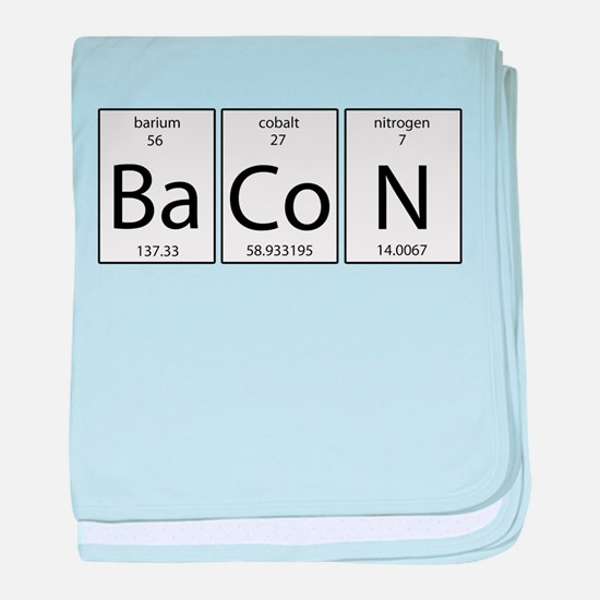 Bacon periodic baby blanket
