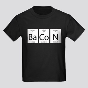 Bacon periodic Kids Dark T-Shirt