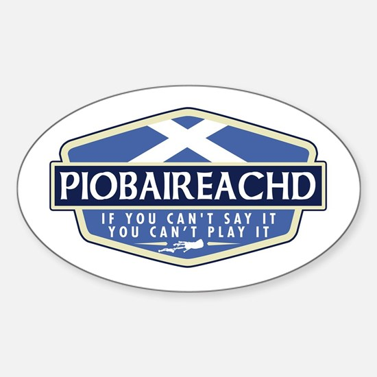 Piobaireachd Rectangle Decal
