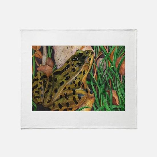 Leopard Frog Throw Blanket