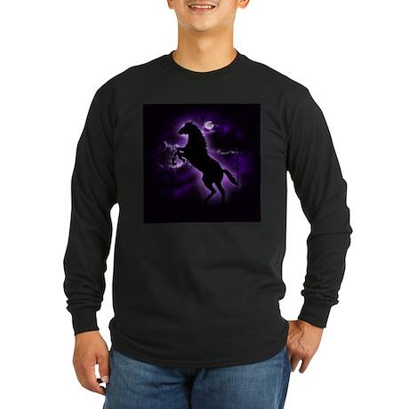 Lightning Horse Long Sleeve Dark T-Shirt